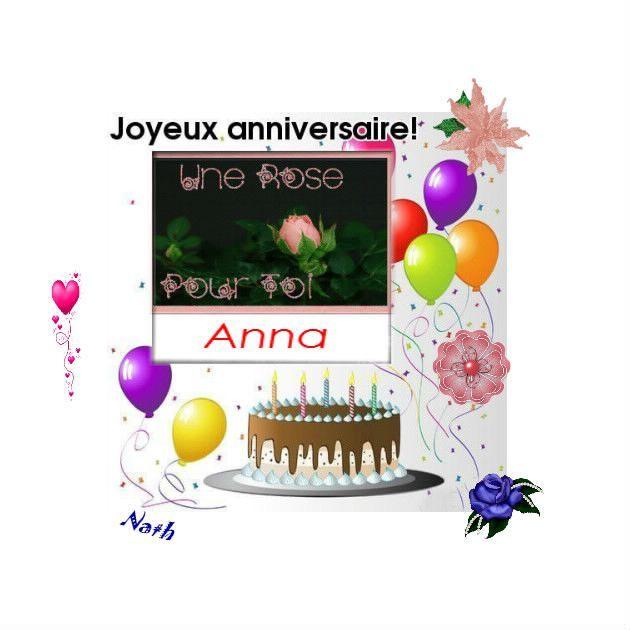 Joyeux Anniversaire Anna